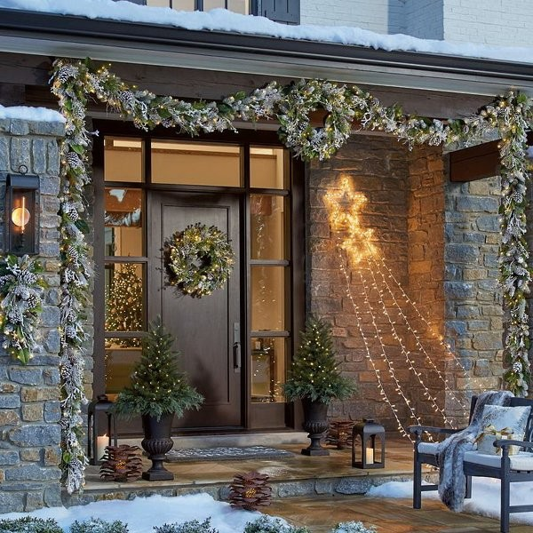 outdoor-Christmas-light-decoration-ideas-54 98+ Magical Christmas Light Decoration Ideas for Your Yard 2018