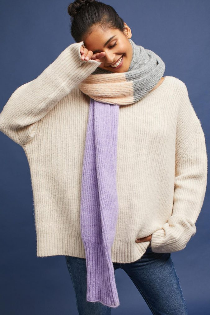 pastel-Heavy-woolen-scarf-675x1012 +25 Catchiest Scarf Trends for Women in 2018