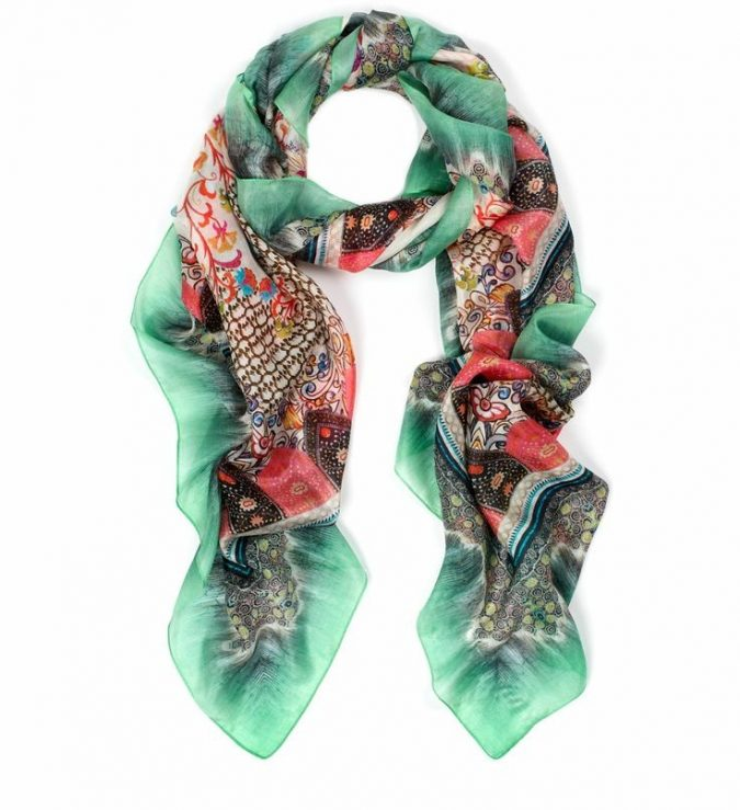 pure-silk-monsoon-scarf-675x739 +25 Catchiest Scarf Trends for Women in 2020