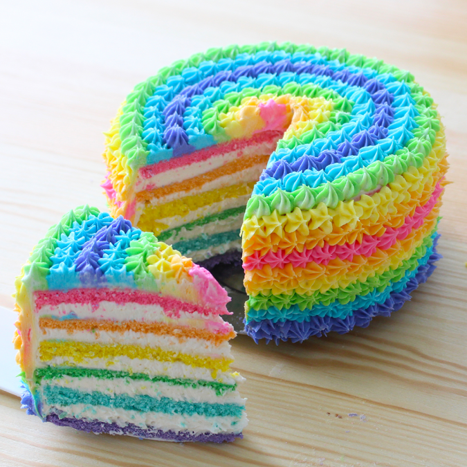 rainbow-cake-garden-party-2-675x675 Top Regular Cakes to Add the Sweetness in Your Celebrations