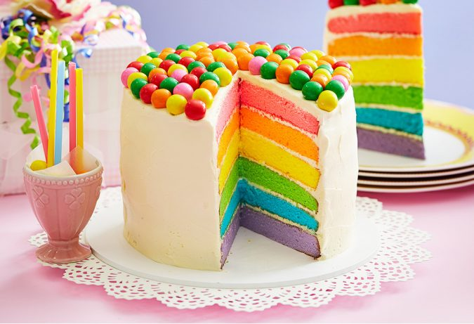 rainbow-cake-garden-party-675x461 Top 10 Best Spring Party Ideas for 2018