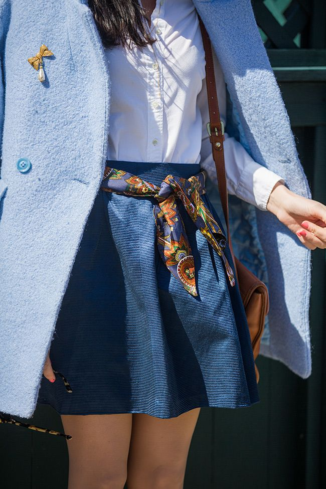 scarf-belt-prep-style +25 Catchiest Scarf Trends for Women in 2018