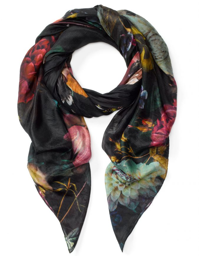 silk-scarf-675x865 +25 Catchiest Scarf Trends for Women in 2018
