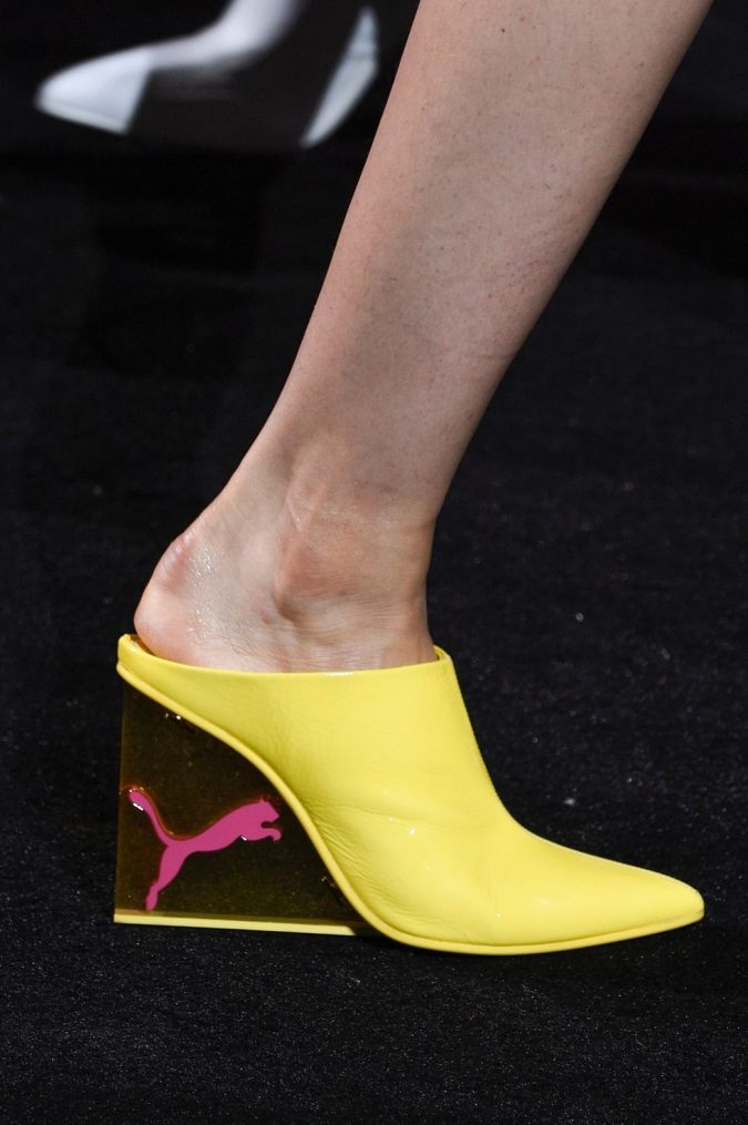 Balenciaga-banana-yellow-crocs-with-heels-675x1015 +8 Catchiest Women's Shoe Trends to Expect in 2018