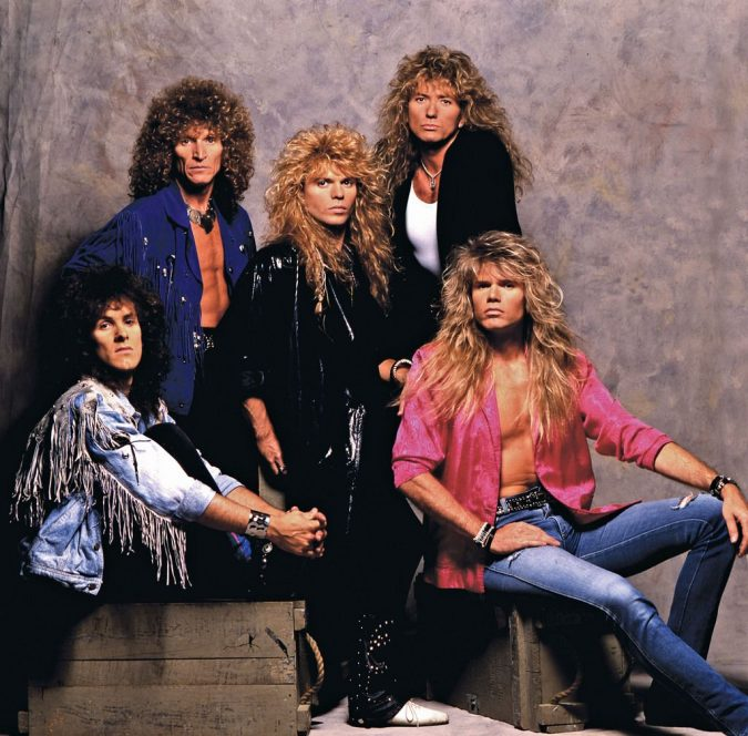 Big-Hair-metal-Whitesnake-in-1987-675x664 5 Mind-blowing 80's Men's Hairstyles