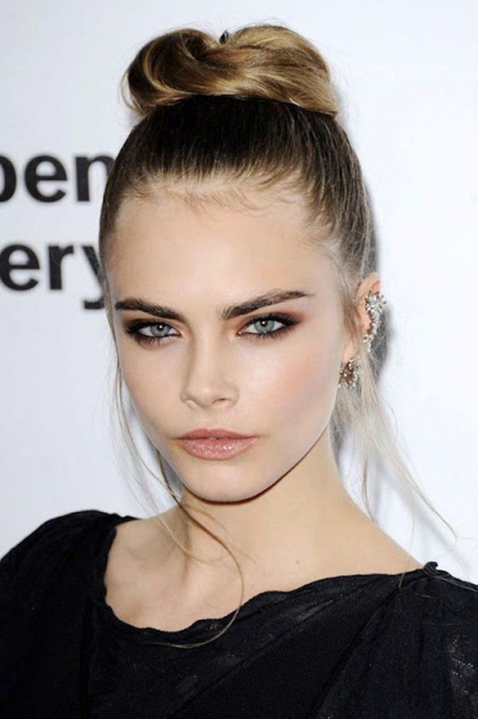 Cara-Delevingne-brows-makeup-675x1014 Top 10 Inspired Celebrity Makeup Ideas for 2018