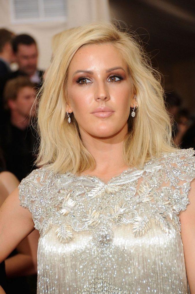 Ellie-Goulding-Gold-Eyes-675x1017 Top 10 Inspired Celebrity Makeup Ideas for 2018