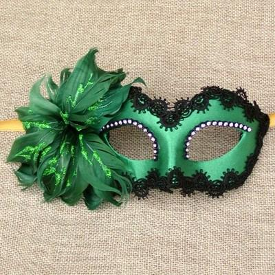 Masquerade-mask-COLOMBINA-FIORE-GREEN Top 10 Stylish Women's Masquerade Masks for Christmas