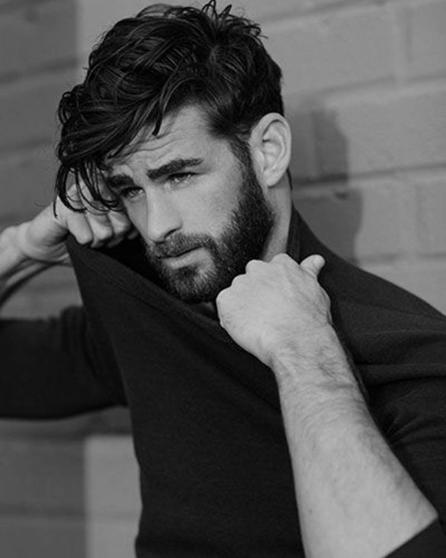 Messy-Hipster-Side-Sweep-Fringe-men 6 Fashionable Hairstyles Every Man in His 30's Should Nail