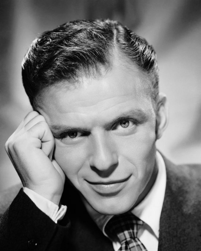 Short-and-sleek-hairstyle-Frank-Sinatra-675x846 Old 1950's Hairstyles for Men [Will Return in 2018]