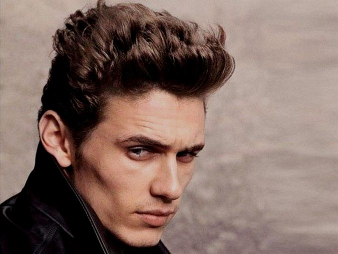 Thick-and-High-hairstyle-James-Dean-675x507 Old 1950's Hairstyles for Men [Will Return in 2018]