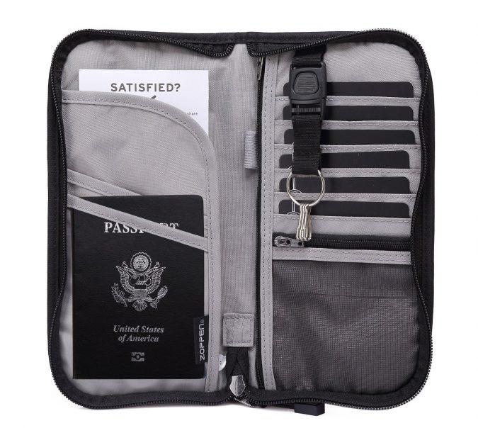 Travel-wallet-organizer-675x604 Best 7 Leather Wallet Patterns Trending in 2020