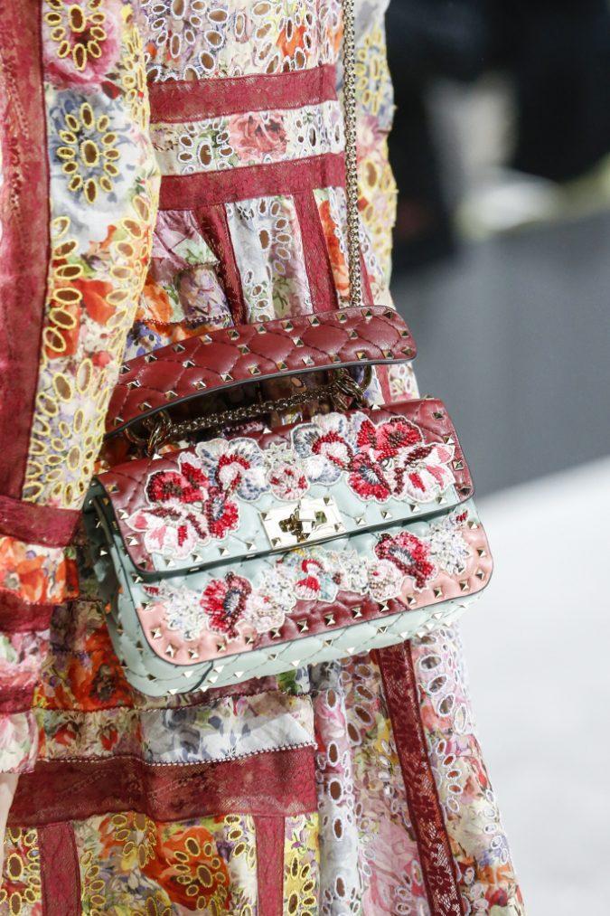 Valentino-Light-Blue-Floral-Embellished-Bag-Spring-2018-675x1013 20+ Newest Women Handbag Trends To Boom in 2020