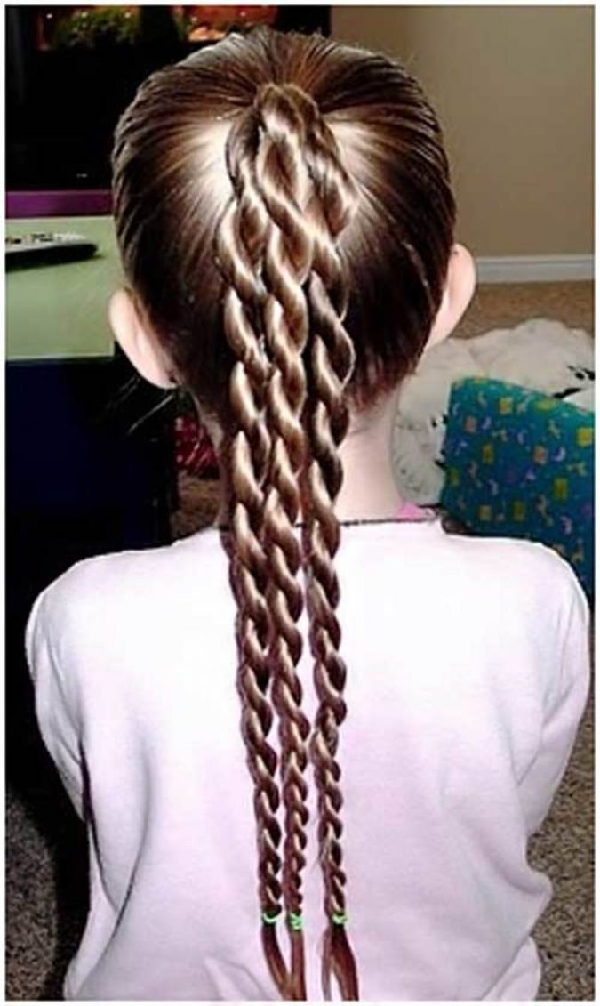braided-ponytail-little-girl-school-hairstyle-675x1131 Top 10 Best Girl's Hairstyles for School