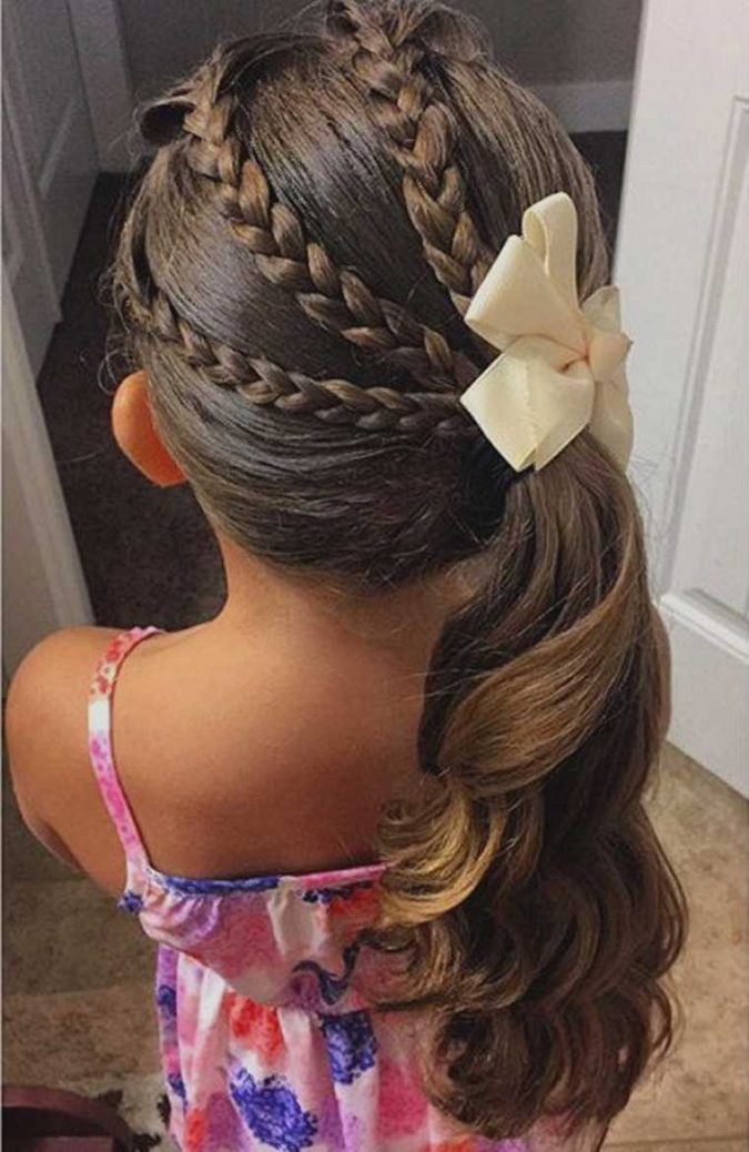 braids-and-side-ponytail-675x1038 Top 10 Best Girl's Hairstyles for School