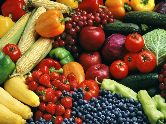 fresh-fruits-vegetables-675x506 9 Face Mapping Acne Spots and What Every Acne Spot Means?