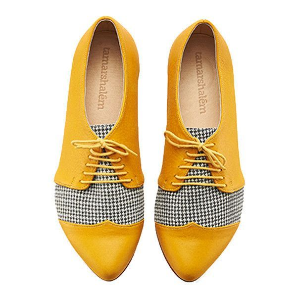 leather-brogues-yellow-shoes +8 Catchiest Women's Shoe Trends to Expect in 2018