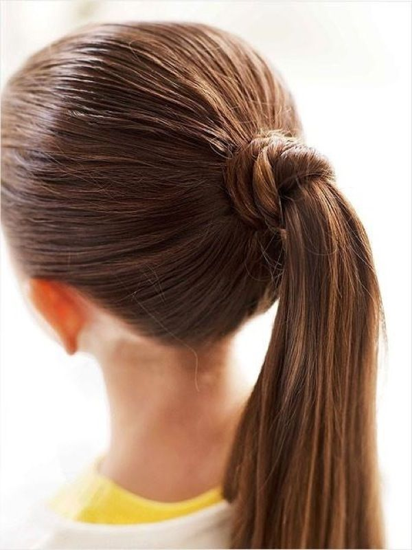 ponytail-school-hairstyle-little-girl Top 10 Best Girl's Hairstyles for School