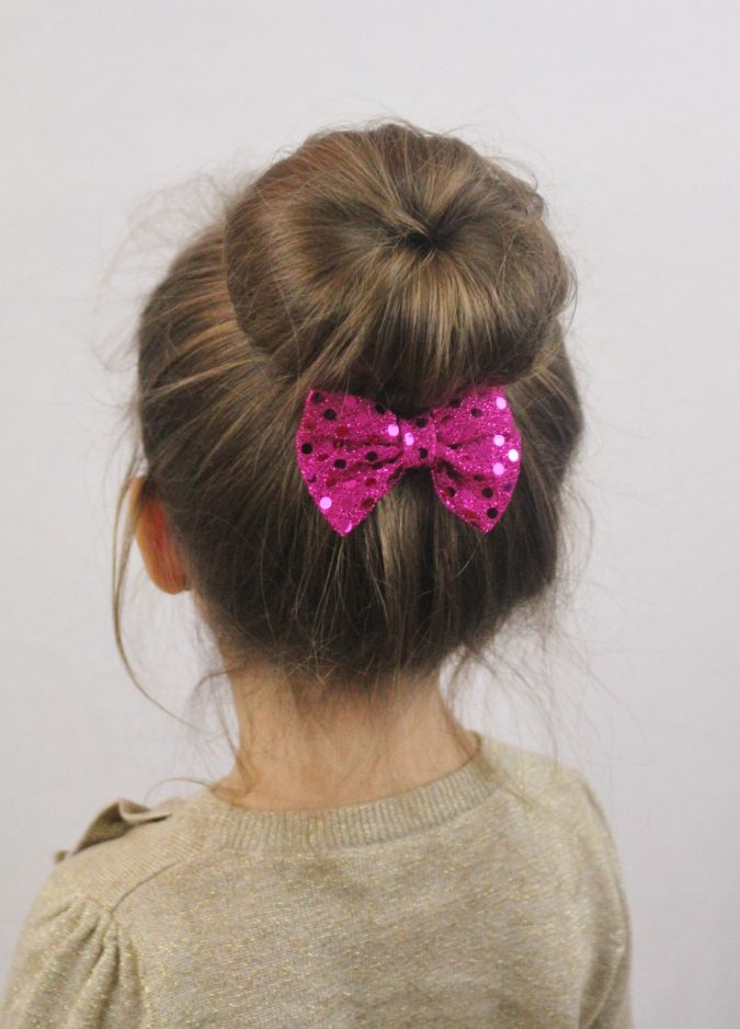 small-bun-school-hairstyle-little-girl-675x939 Top 10 Best Girl's Hairstyles for School