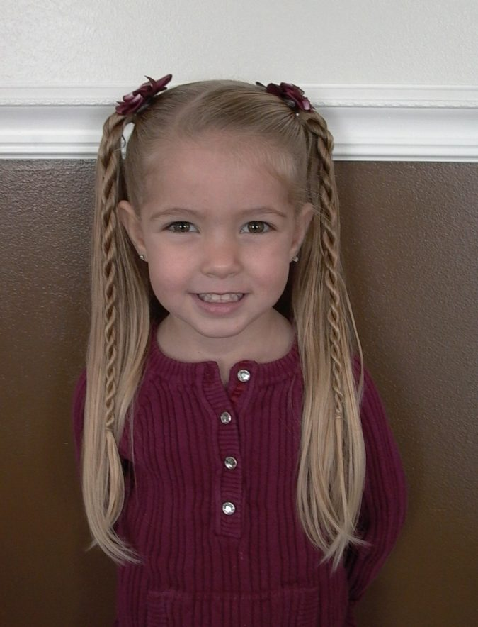 two-ponytails-school-hairstyle-little-girl-675x884 Top 10 Best Girl's Hairstyles for School