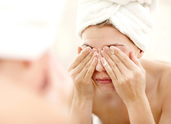 woman-washing-face-675x489 9 Face Mapping Acne Spots and What Every Acne Spot Means?