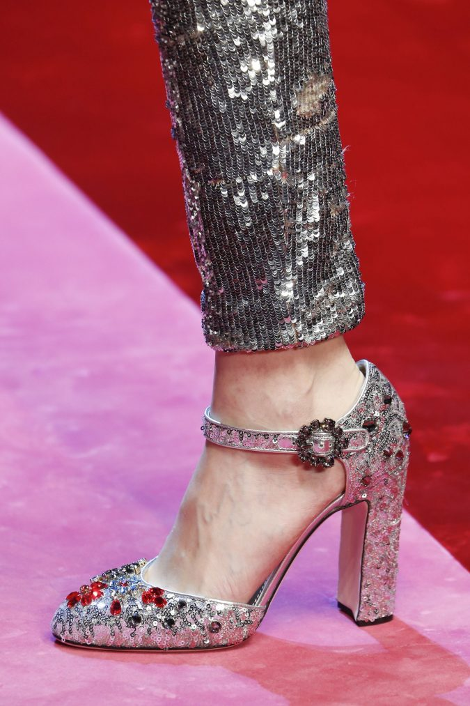 women-glitter-shoes-2018-675x1013 +8 Catchiest Women's Shoe Trends to Expect in 2020