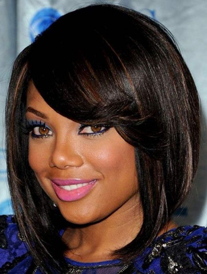 Average-Length-bob-with-Limbs-for-black-women-675x892 TOP 10 Stylish Bob Hairstyles for Black Women in 2018
