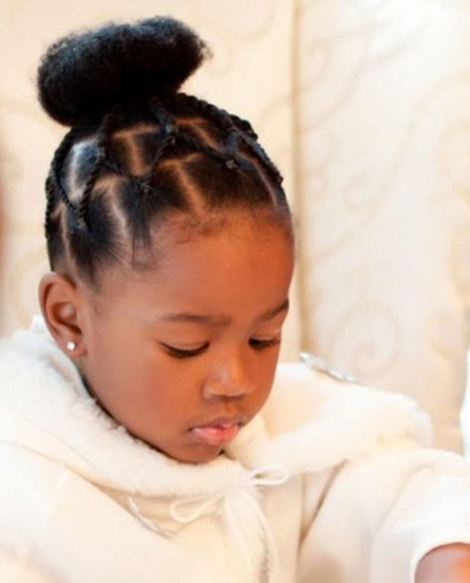 Ballerina-Bun-braids-675x837 Top 10 Cutest Hairstyles for Black Girls in 2020