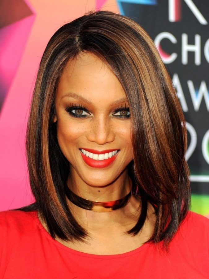 Black-Bob-and-Caramel-highlights-hairstule-675x899 TOP 10 Stylish Bob Hairstyles for Black Women in 2018