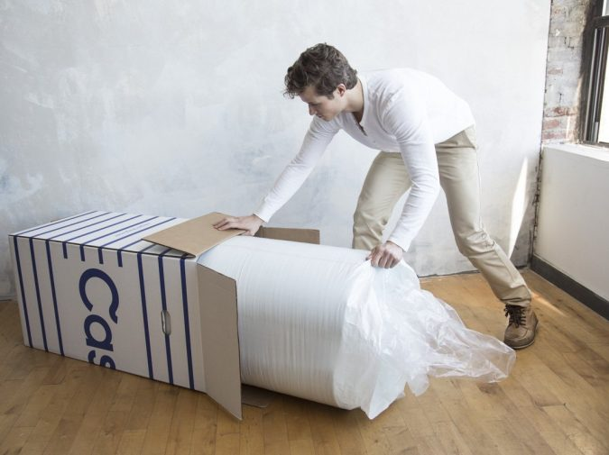 Casper-Memory-Foam-Mattress-unboxing-675x505 Top 10 Most Stunningly Designed Mattresses for Your Interior Section