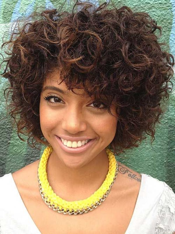 Curly-White-Bob-Hairstyle-short-hairstyles-for-black-women Top 10 Cutest Short Haircuts for Black Women in 2018