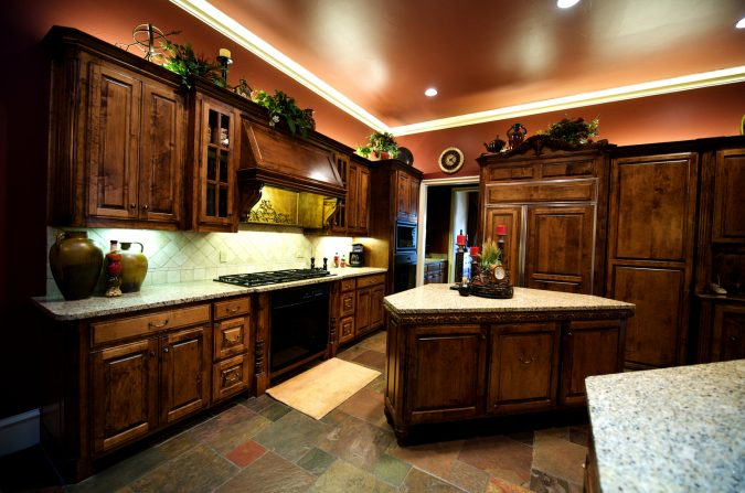 Dark-colored-kitchen-2-675x447 11 Tips on Mixing Antique and Modern Décor Styles