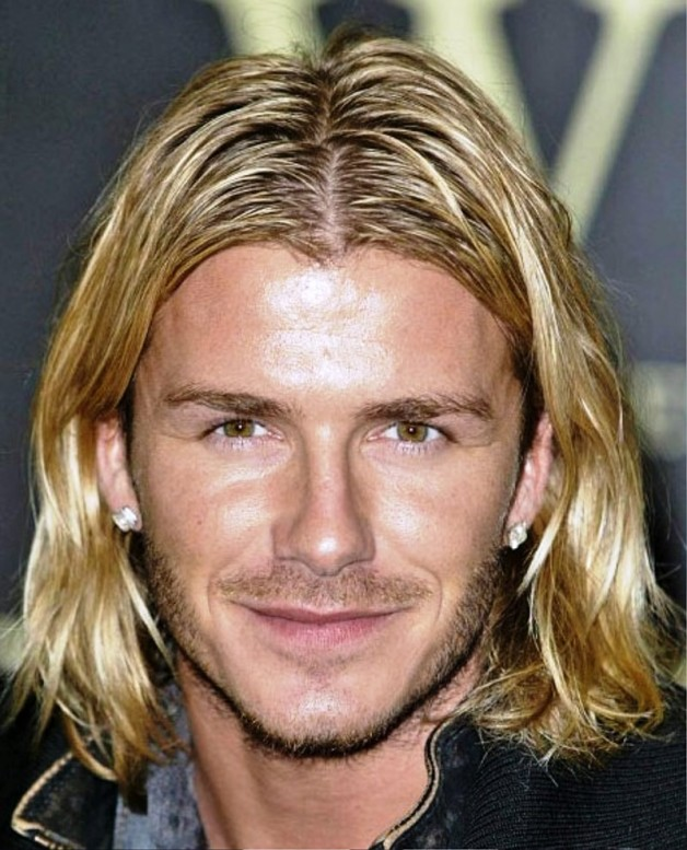 David-Beckham-Layered-Long-Hairstyle-For-blonde-Men Top 10 Hairstyles for Guys with Blonde Hair [2020 Trends]