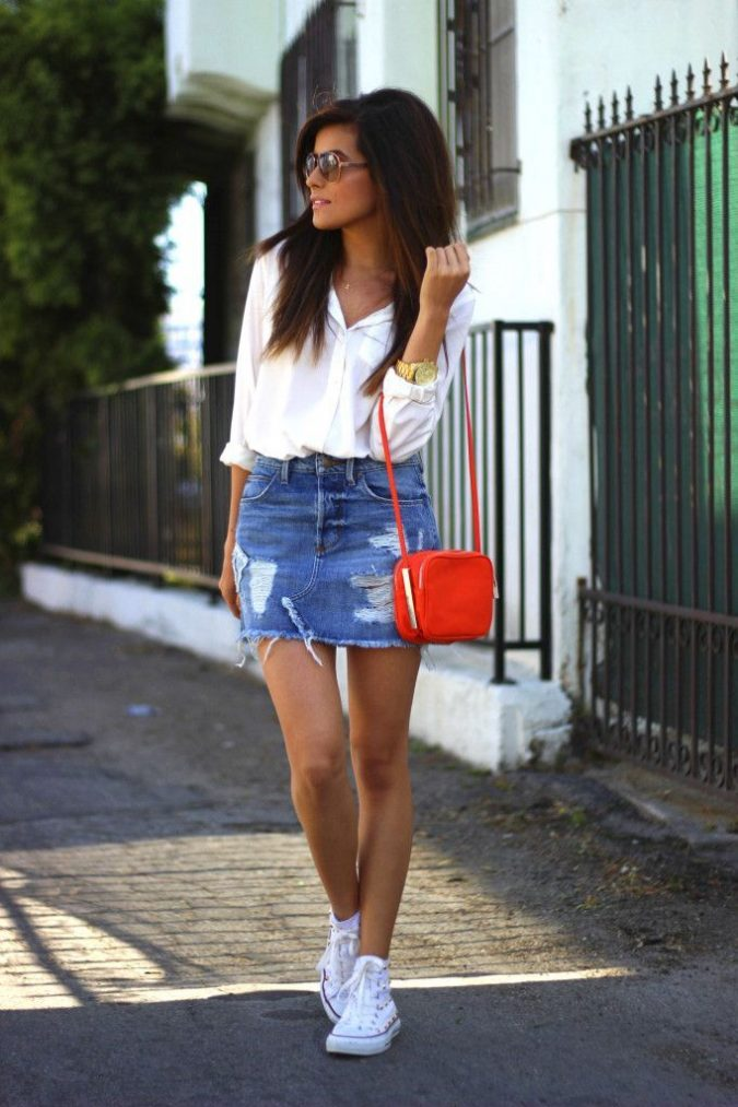 Denim-mini-skirt-675x1013 Top 10 Lovely Spring & Summer Outfit Ideas for 2018