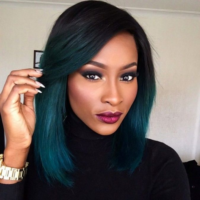 Long-Bob-ombre-Hairstyle-for-black-women-2-675x675 TOP 10 Stylish Bob Hairstyles for Black Women in 2018