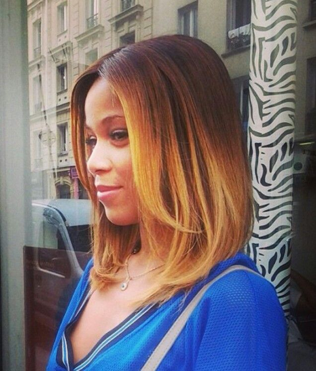 Long-Bob-ombre-Hairstyle-for-black-women TOP 10 Stylish Bob Hairstyles for Black Women in 2018