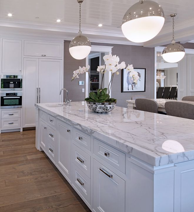 Marble-kitchen-countertop Top 10 Hottest Kitchen Design Trends in 2018