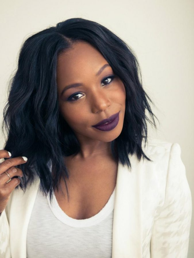 Messy-Wavy-Bob-Hairstyle-for-black-men-1-675x899 Top 10 Cutest Short Haircuts for Black Women in 2020