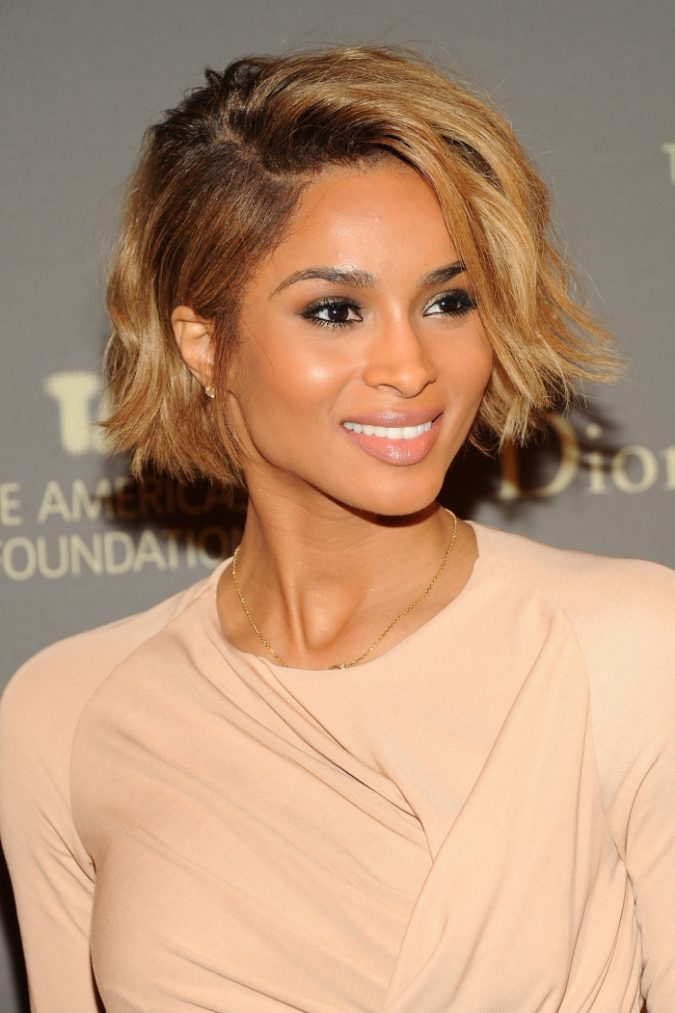 Messy-Wavy-short-Bob-Hairstyle-for-black-women-1-675x1013 Top 10 Cutest Short Haircuts for Black Women in 2018