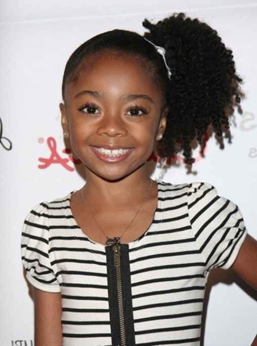 One-side-ponytail-hairstyle Top 10 Cutest Hairstyles for Black Girls in 2020