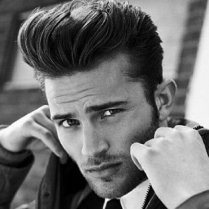 Pompadour-hairstyle-for-men-2-675x675 Top 10 Classic 20's Hairstyles for Men [Coming Back in 2018]
