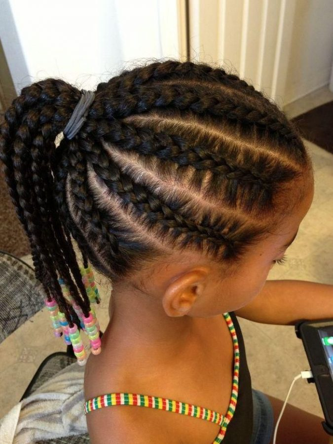 Ponytail-braids-hairstyle-for-black-girls-675x899 Top 10 Cutest Hairstyles for Black Girls in 2018