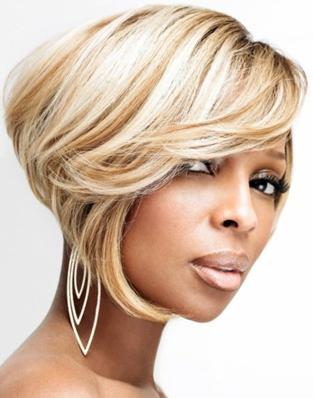 Short-Blonde-Rounded-Bob-for-black-women-2 TOP 10 Stylish Bob Hairstyles for Black Women in 2018