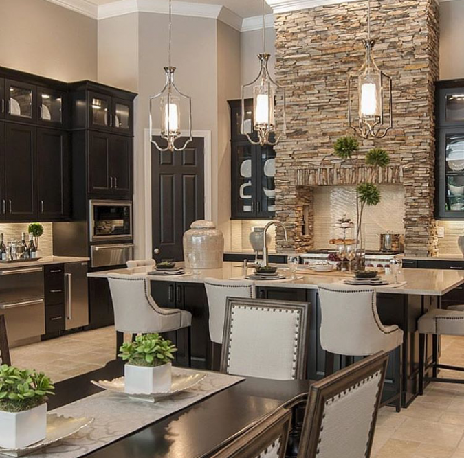 Transitional-design-kitchen-675x667 Top 10 Hottest Kitchen Design Trends in 2018