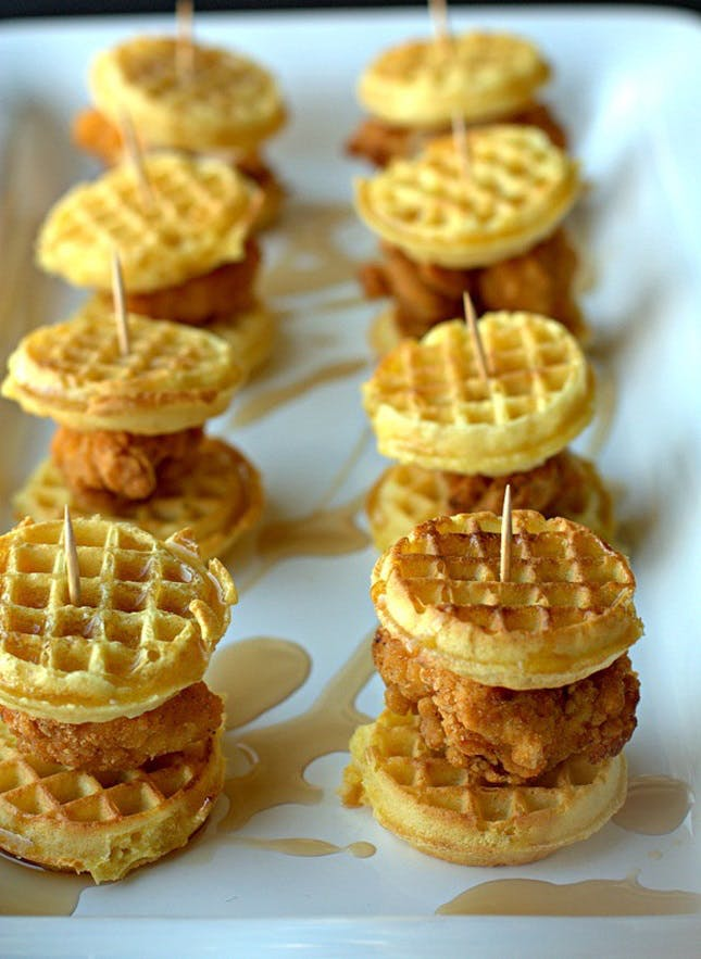 Waffle-Wedding-Snack 10 Outdated Wedding Trends to Avoid in 2020