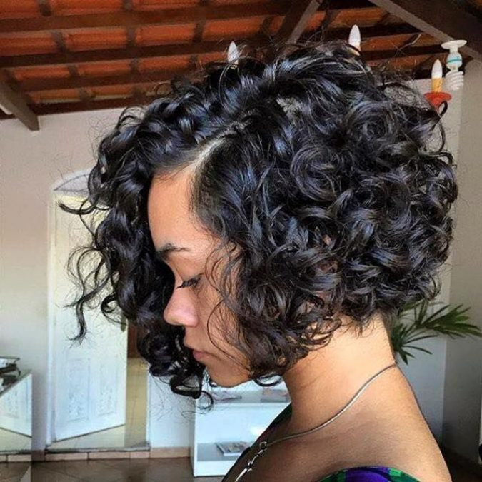 Wide-curly-bob-with-volume-for-black-women-675x675 TOP 10 Stylish Bob Hairstyles for Black Women in 2018