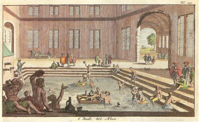 bath-in-ancient-Greece-Aachen_Kaiserbad_1682-675x416 The Truth about Bathing throughout the Years [+500 Years Bathing History]