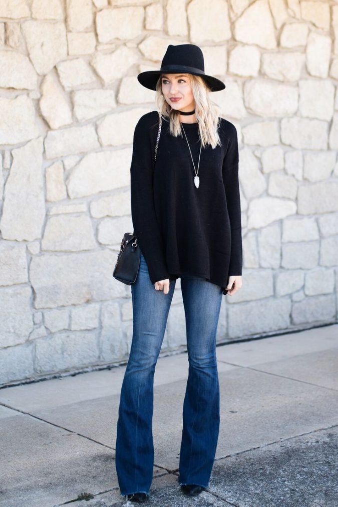 black-jeans-outfit-boho-flare-jeans-675x1013 12 Outdated Fashion Trends Coming Back in 2018
