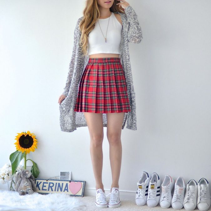bra-top-and-skirt-and-cardigan-675x675 Top 10 Lovely Spring & Summer Outfit Ideas for 2020