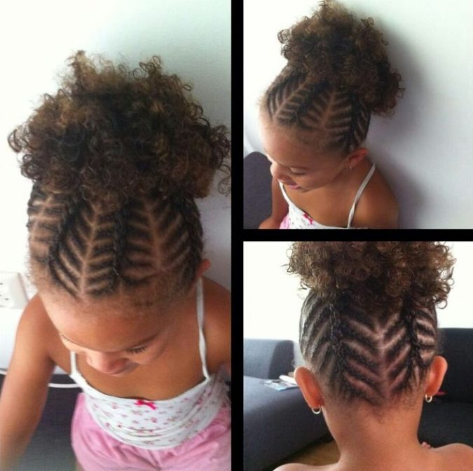 braids-with-upper-short-ponytail-675x672 Top 10 Cutest Hairstyles for Black Girls in 2018